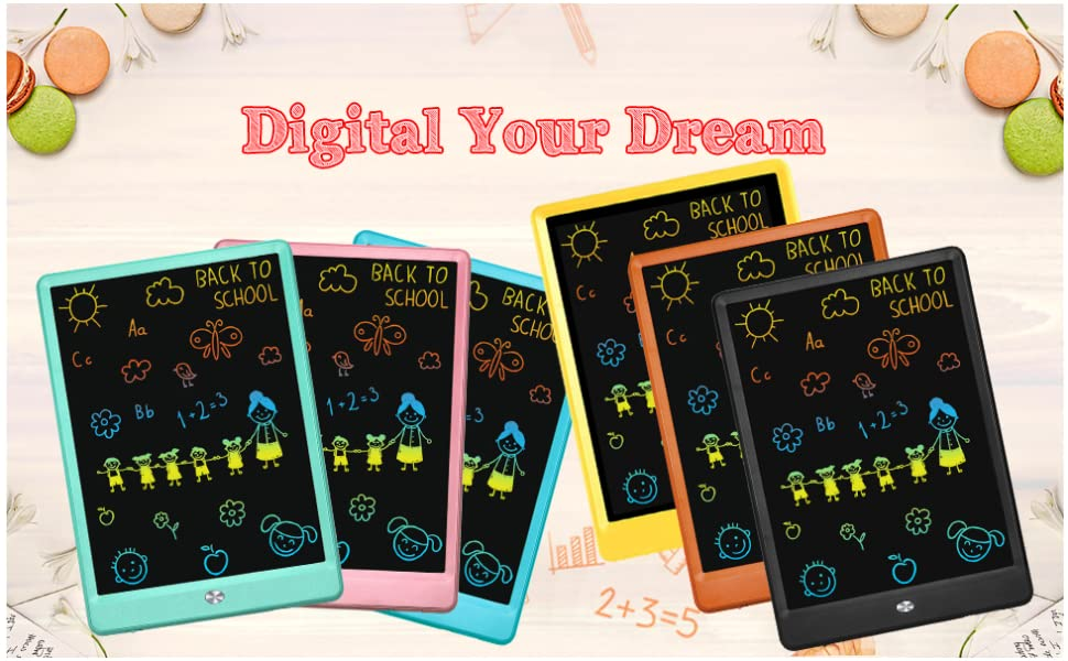 Color : Green, Size : 8.5 inches Canyixiu Message Board,LCD Writing Tablet 3 Pcs LCD Tablet Childrens Drawing Board Graffiti Board Light Energy Writing Board for Business,Home Message Board,Kid