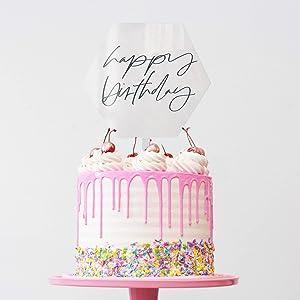 Keepsake 2nd Birthday Hexagon Acrylic Cake Topper| Personalised text|Birthday Gift 2 years old Cake Decoration Acrylic|Personalised Text