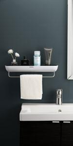 Adhesive Shower Caddy Grey