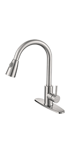 pull out spray head kitchen faucet