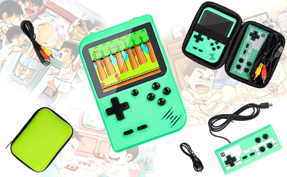 Retro Handheld Game Console With Protector Case