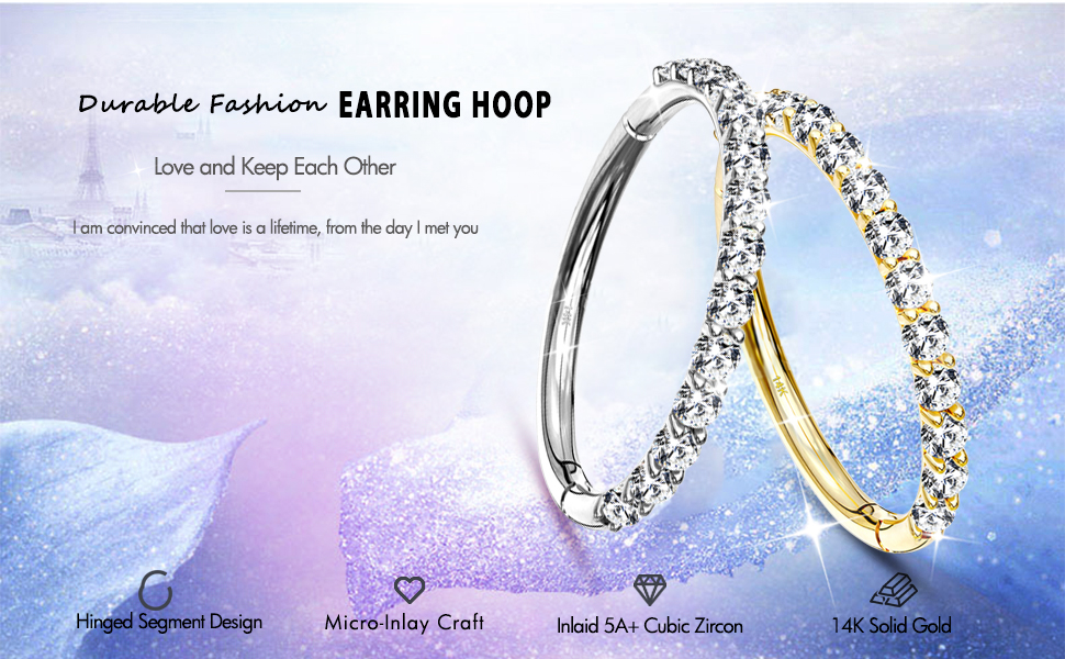 14K gold Earring hoop