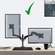 Duronic DM552 Soporte para Monitor con brazo extensible PC 15