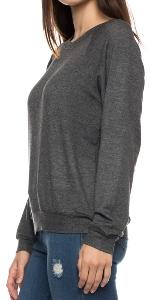 Lightweight Women's Sweatshirt, Soft French Terry Pullover Sweater