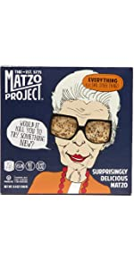 Matzo Flats Everything Crackers FlatBread Kosher Vegan Nut Free Dairy Free Sugar Free Passover