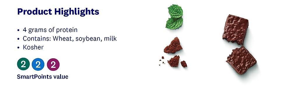 mint, chocolate, crunch, snack bar, protein, kosher, think thin, weight watchers, healthy,