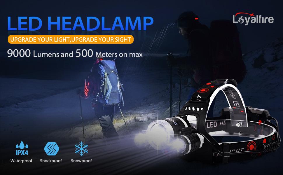 loyalfire 9000 LM XM-L2 DEL projecteur lumière 4 m Détecteur de mouvement projecteur