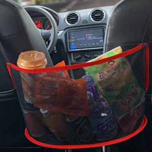 Car Mesh Organizer 3-Layer, Dog Net for Car Between Seats Back Seat Net Organizer, Pet Barrier