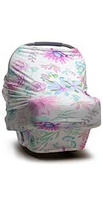Chloe floral baby car seat cover