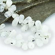Mystic Self White Moonstone Necklace Gemstone Beaded Crystal Healing Chakra Birthstone Jewelry Women