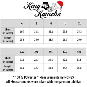 Christmas X-Mas Size Charts Christmas Hat Inches Measurements