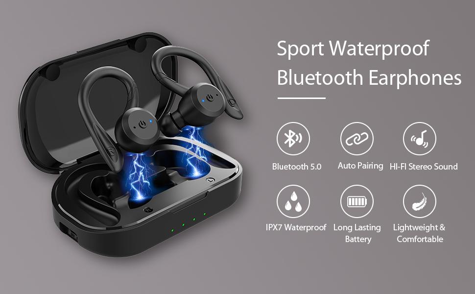 Sport Waterproof Bluetooth Earphones