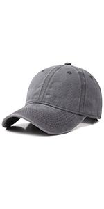 Vintage Washed Distressed Baseball-Cap Twill Adjustable Dad-Hat