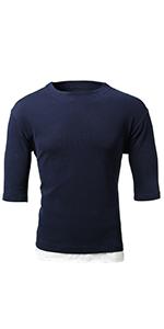 七分袖 Tシャツ メンズ