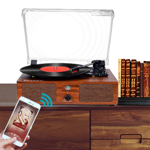 Vinyl Record Player with Bluetooth