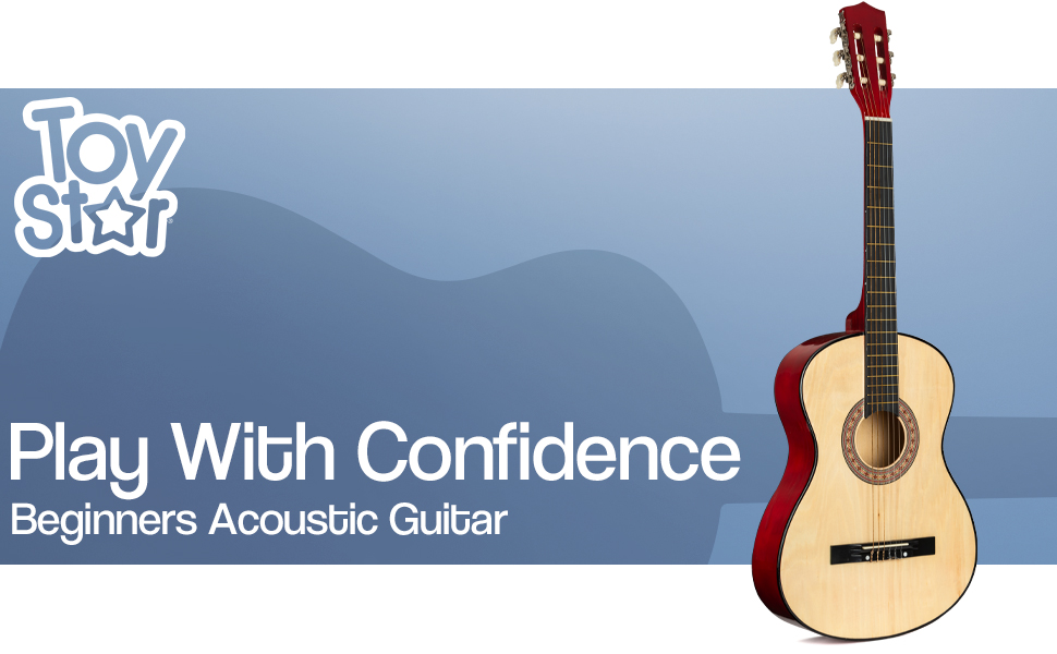 play with confidence toy star beginners acoustic guitar strum string strings pop country sing song