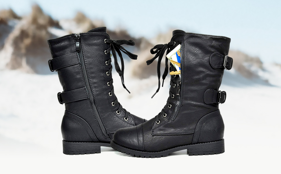 women winter mid calf snow boots