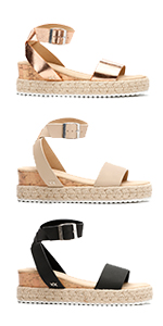 Women Wedge Sandals For Womens Platform Sandles Summer Espadrilles White Flat Wedges Sandal