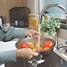 strong and do the job well, wash and drain coarse rice, rice steamer, fruit basket, sturdy colander