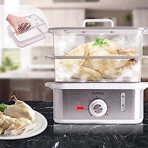 Cuisson vapeur cuiseur cuire électrique capacité familial viande poisson saumon recette légumes