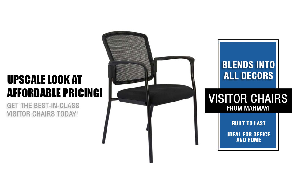 Erica visitors chair mesh black