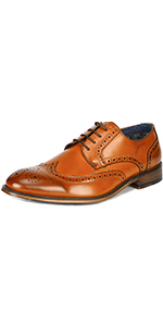 Men's Brogue Wing Tip Oxford Formal Dress Shoes