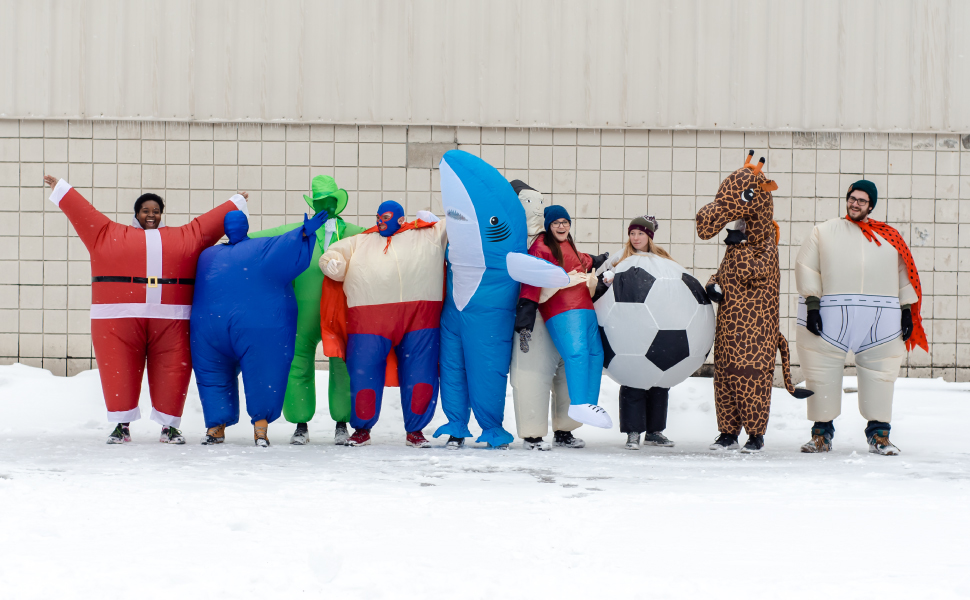 Inflatable Soccer Ball Chub Suit® Costume