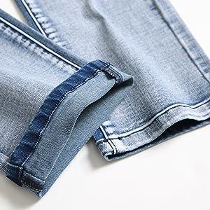 jeans for men skinny slim fit straight leg tapered hip hop