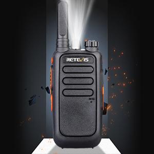 Small walkie talkies with flashlight