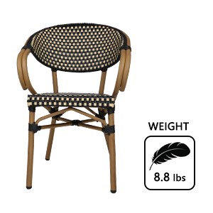 wicker rattan restaurant stackable dining room heavy duty sturdiness well made home