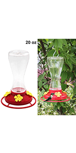 Twinkle Star 20-Ounce Hanging Hummingbird Feeder