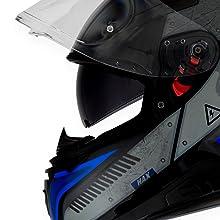 HAX Helmets CASCO CERRADO DOBLE CERTIFICACIÓN SERIE IMPULSE Droid lentes retráctiles