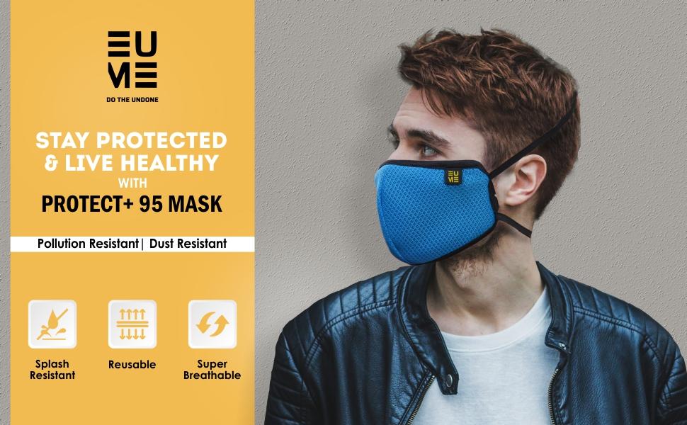 EUME 95 face mask men women mask dust resistant 4 layer face mask washable reusable functional mask