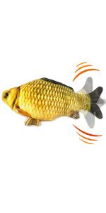 flopping fish interactive cat toy, slap master, dancing fish
