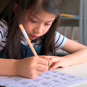25 problems per page at 4 points each makes it easy for parents to grade papers