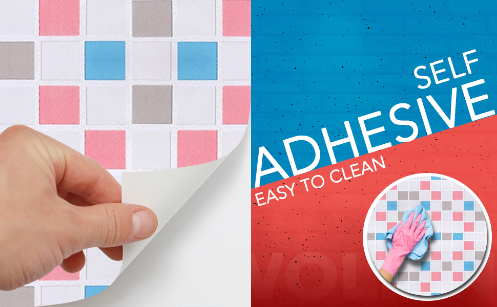 backsplash contact paper for kitchen & bathroom, mosaic tiles DIY easy to clean, self adhesive