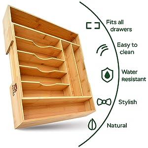 flatware organizer for drawer