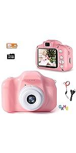 Kinder Digital Mini kamera, Spiel, 2,0 Zoll 32 GB Wiederaufladbare Kamera