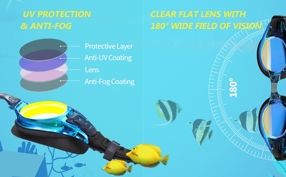 uv protection anti-fog kids goggles