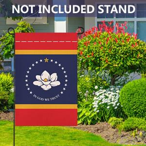 Mississippi State Burlap Garden Flag