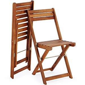 Deuba Conjunto de balcón juego de 1 mesa y 2 sillas plegables de ...