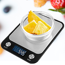 easily choose among measurement in oz, lb:oz, g, kg, ml, satisfy all weighing needs.