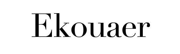 Ekouaer Pajama Set for Women Long Sleeve Sleepwear Notch Collar Pjs Sets with Pants S-XXL