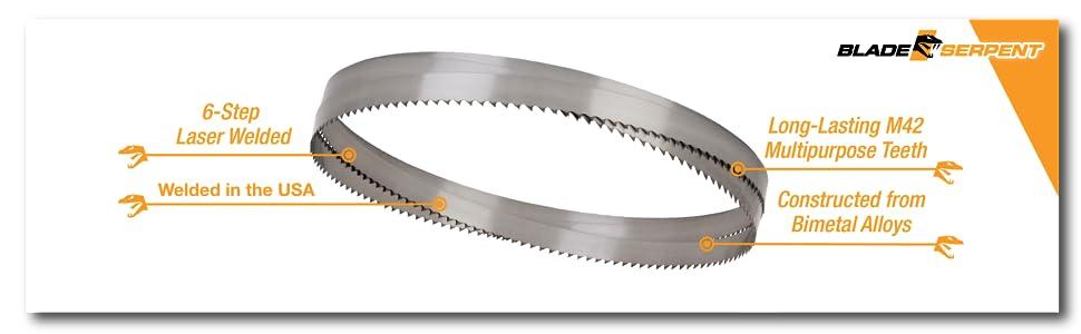 bandsaw blade saw band metal cutting portable inch cordless bimetal cut deep horizontal compact