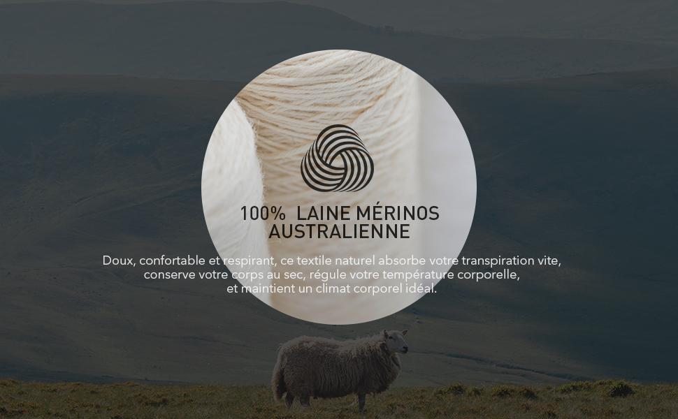 LAPASA Ensemble de sous-v/êtement Thermique Femme 100/% Laine M/érinos Naturelle Base Layers de Sport Chaud L/éger Randonn/ée Trekking Montagne L58
