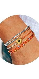 sunflower bracelets