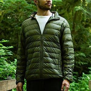 alpine swiss puffer jacket down alternative full zip coat lightweight bubble jacket