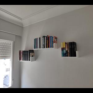 Homfa Estantería de Pared Estanterías Cubos Juego de 3 Estantes para Libros CDs Blanco: Amazon.es: Hogar