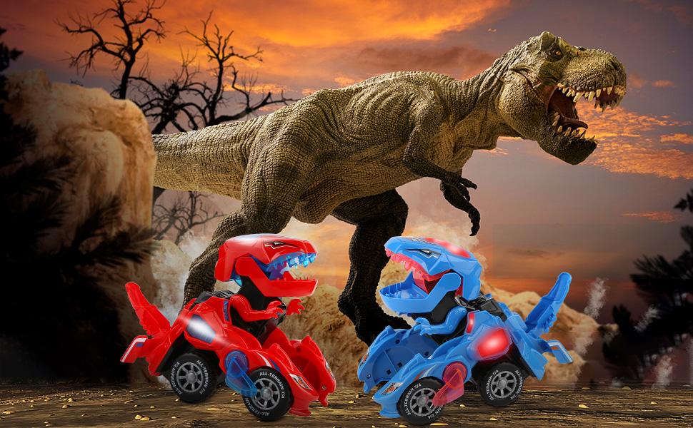 dinosaur car