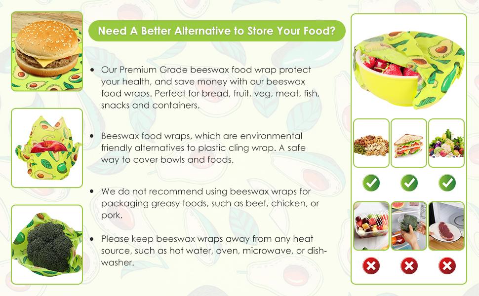 Reusable Beeswax Food Wraps